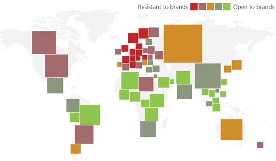 TNS: la resistenza ai brand nel mondo