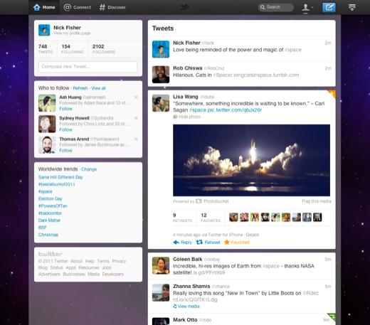 nuova interfaccia di twitter