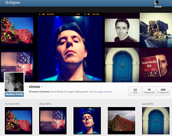 instagram profili web