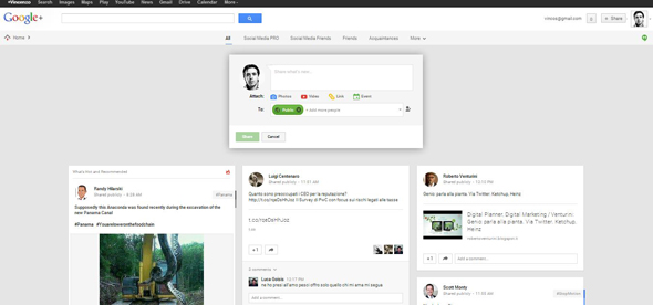 Google+ design