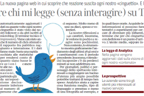 Sul Corriere per commentare Twitter Analytics