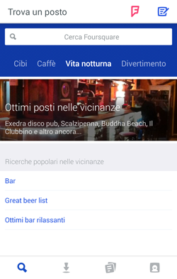 foursquare search page