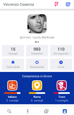 Foursquare 8.0: gusti, competenze e check-in passivo