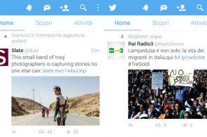 Twitter rivoluziona la timeline