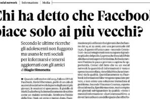 Facebook e giornali: un mio parere per Il Sole 24 Ore