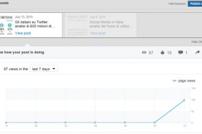 Gli Analytics di Linkedin Publishing