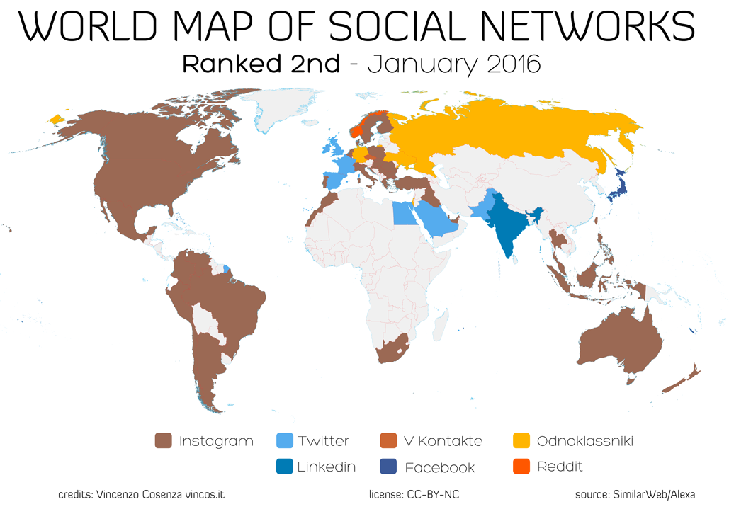 World Map Of Social Networks - World map germany