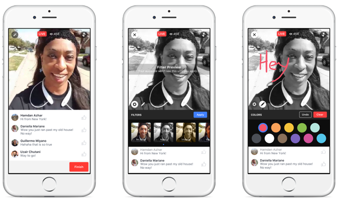 facebook live creative tools