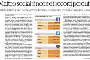Intervista per Repubblica: la rincorsa di Renzi sui social