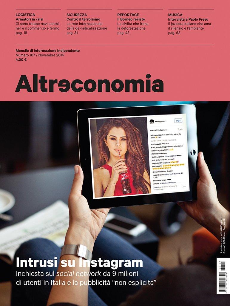 Influencer su Instagram e trasparenza: mia intervista su Altreconomia