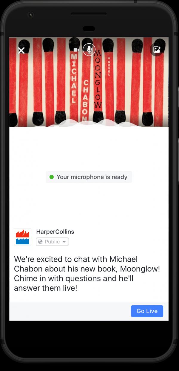 facebook live audio