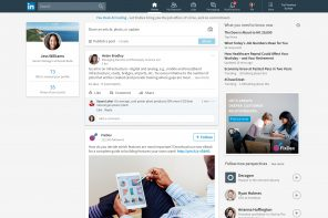 LinkedIn cambia design e punta su news feed, search e chat
