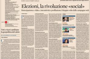 Politici italiani e social: mia analisi per Il Sole 24 Ore