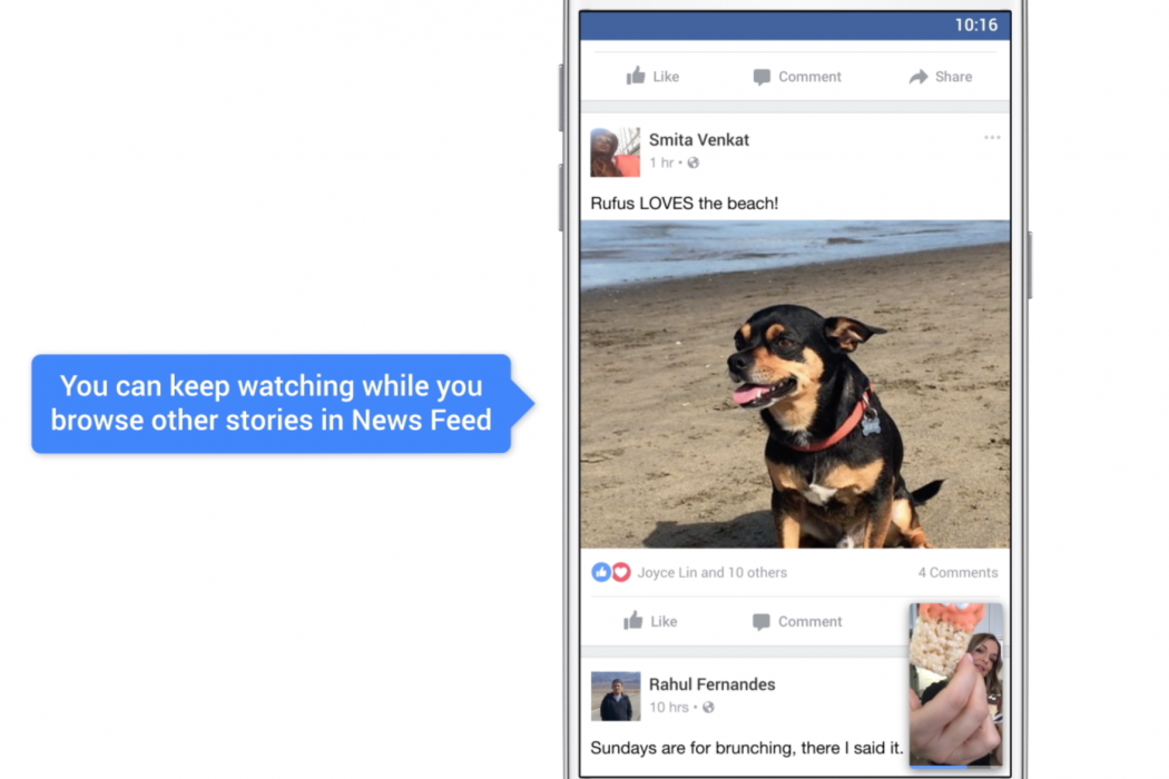 facebook video picture in picture