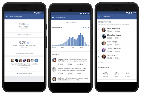 facebook insights gruppi
