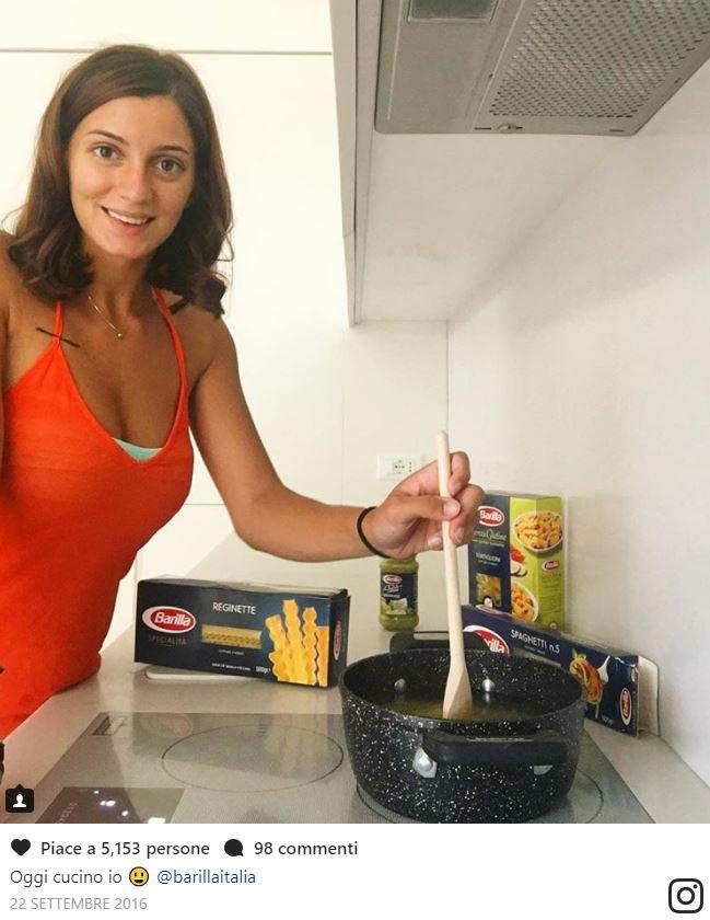 rossella fiamingo promuove barilla