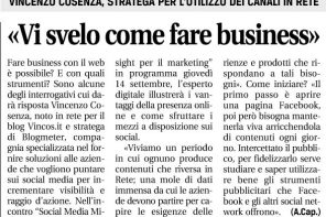 Alla Social Media Week di Roma – Intervista su Leggo