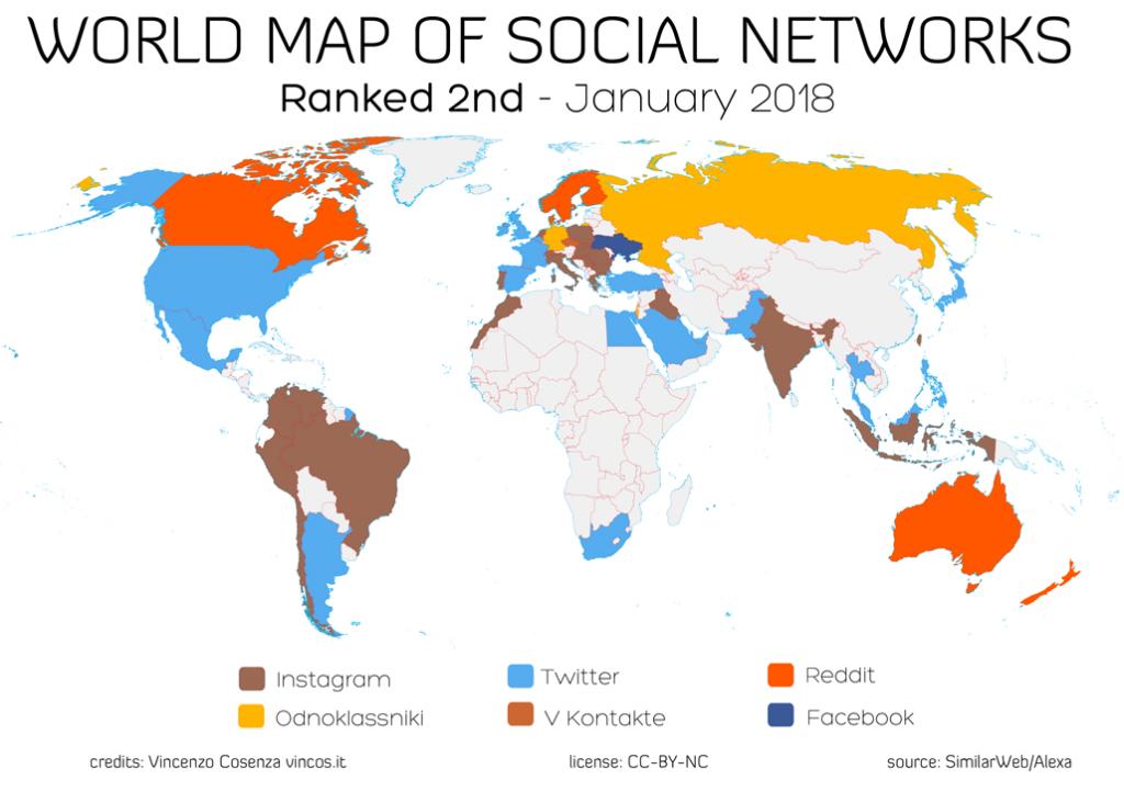 map social network behind facebook
