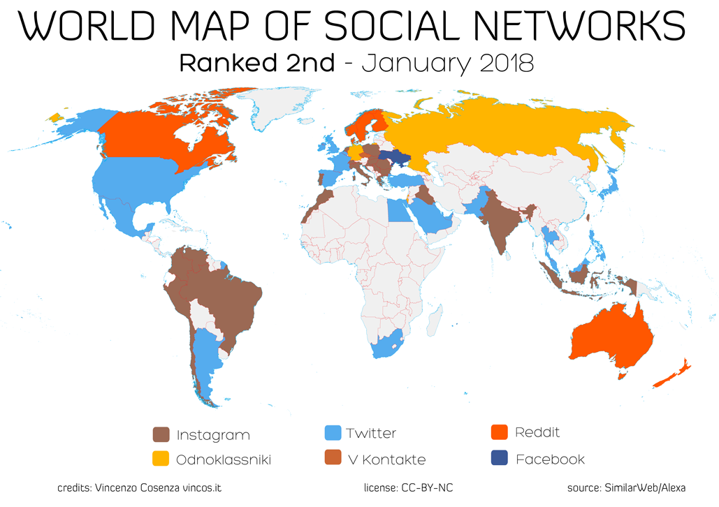 World map of social networks all the updated stats about the social networks of the world are in the page social media statistics gumiabroncs Gallery