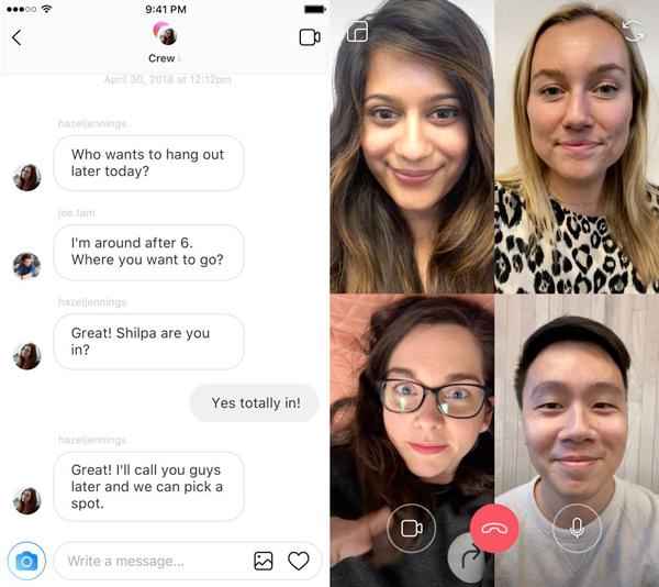instagram videochat