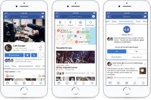 Facebook ridisegna le Pagine in favore delle attività locali