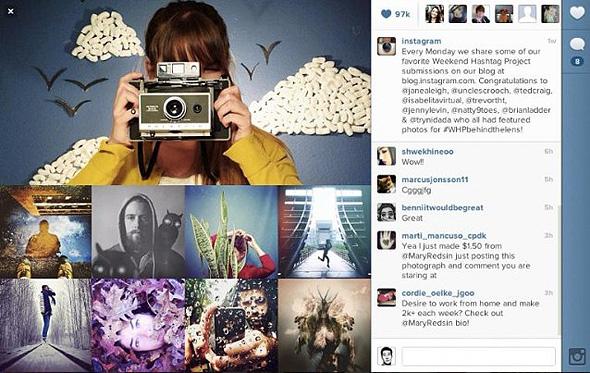 profilo web instagram
