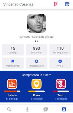 foursquare profilo