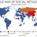world map of social networks decembre 2014