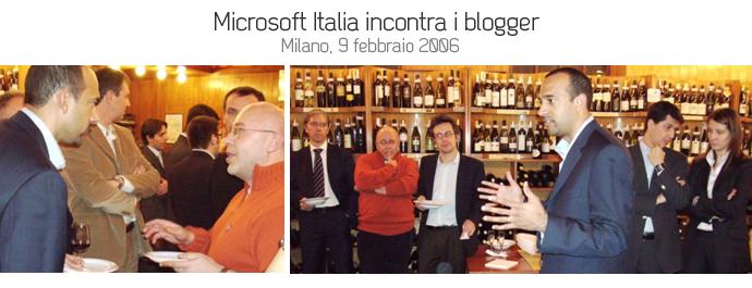microsoft incontro blogger febbraio 2006