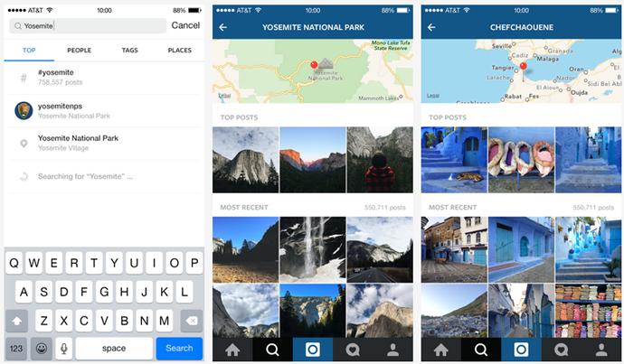 instagram nuovo motore di ricerca