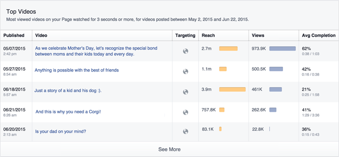 top video insights