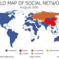 mappa dei social network nel mondo