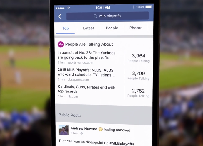 facebook nuovo motore di ricerca