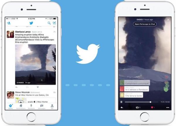 twitter integra periscope