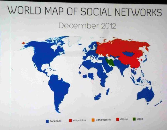 carte mondiale réseau sociaux