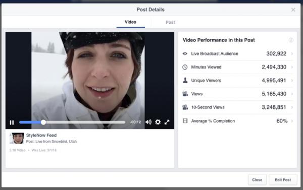 facebook live metrics