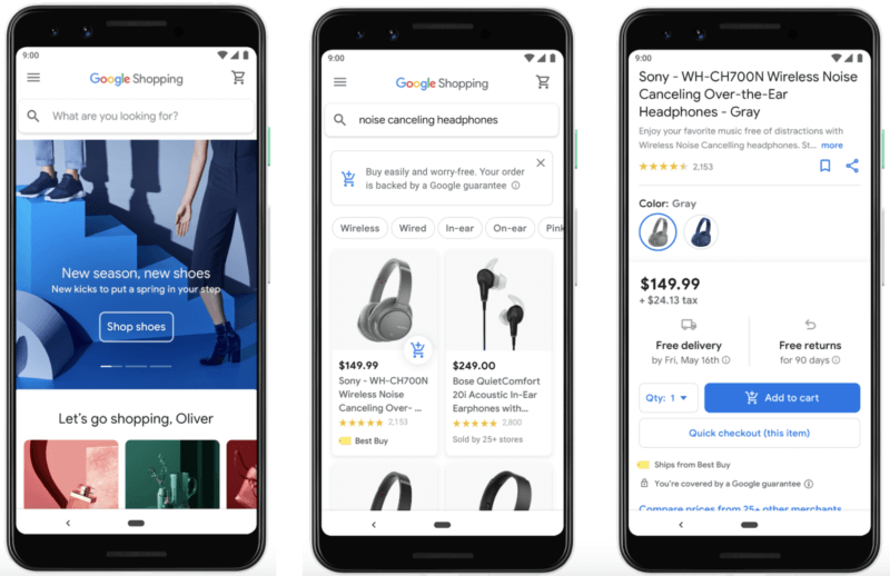 new google shopping