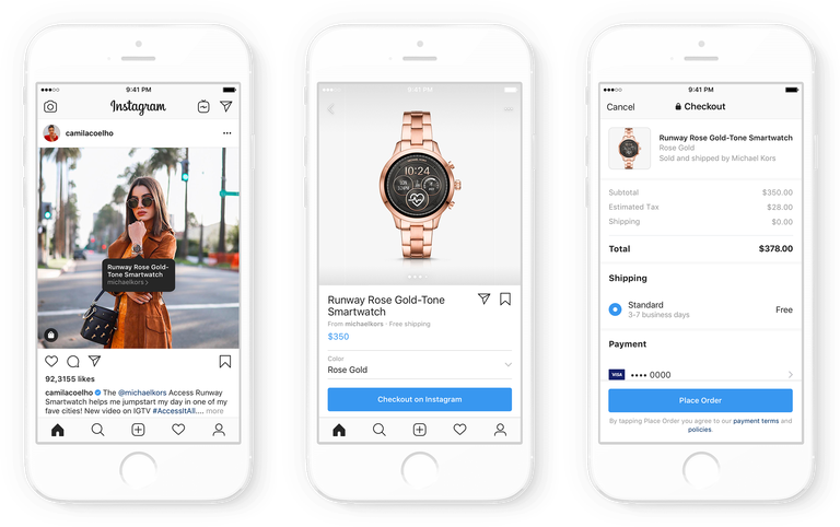 instagram shopping con creator
