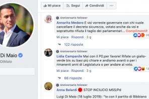 Commenti fake sull'accordo M5S-PD? Intervista a La Repubblica