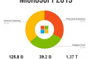 Microsoft: ricavi 2019 e sviluppi futuri