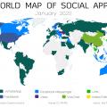 mappa delle app nel mondo 2019