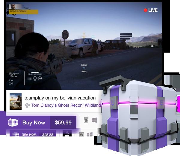 twitch vendita di giochi
