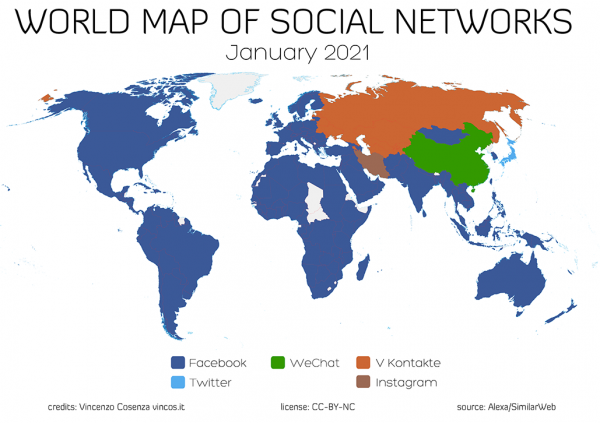 mappa social network mondo