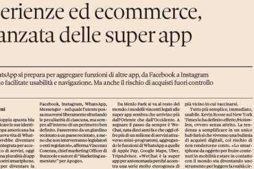 WhatsApp diventerà una super app? Intervista per Il Sole 24 Ore