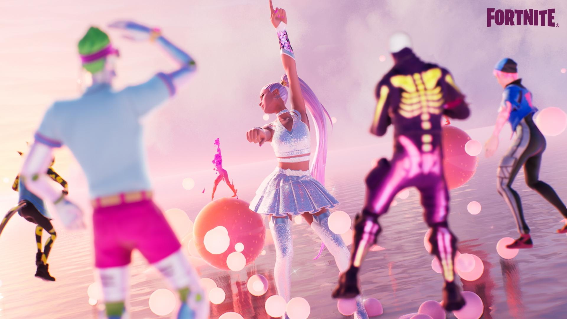 ariana grande fortnite dance